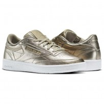 Reebok Club C 85 Schuhe Damen Gold/Grau Gold/Weiß (102GXMZN)