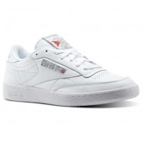 Reebok Club C 85 Shoes Mens White/Carbon/Excellent Red (106AXSFR)