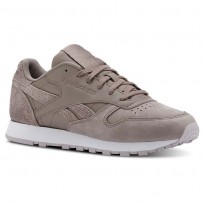 Reebok Classic Leather Shoes For Women Lavender/White (106INKPJ)