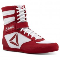 Reebok Boxing Tactical Shoes Mens White/Excellent Red (109UBVMD)