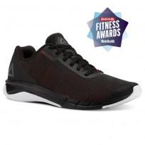 Reebok Flexweave Run Running Shoes Mens Black/Primal Red/Shark/White (111HIDOJ)