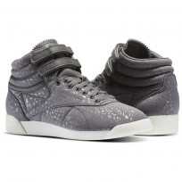 Reebok Freestyle HI Shoes Womens Shark/Chalk (113EMGJZ)