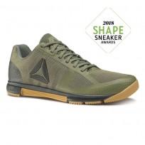 Reebok Speed Training Shoes Mens Hunter Green/Coal/Reebok Gum (115HWOPR)