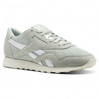 Reebok Classic Nylon Shoes Womens Eucalyptus/Chalk (120RJFDT)