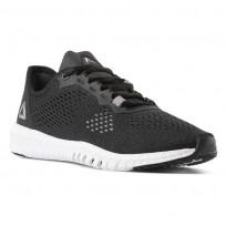 Reebok Flexagon Training Shoes Womens Black/White/Pure Silver (122IPNKW)