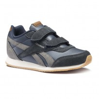 Reebok Royal Classic Jogger Shoes For Boys Navy/Cream (125YZSHQ)