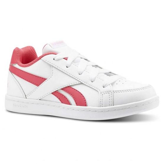 Reebok Royal Prime Shoes For Girls White/Pink/Light Pink (129SVDRE)