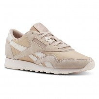 Reebok Classic Nylon Shoes For Women Beige/Pink (131UOFZB)