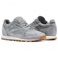 Reebok Classic Leather Schuhe Damen Grau (137FDWCV)