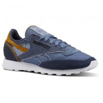 Reebok Classic 83 Shoes Mens Blue Slate/Smoky Indigo/White/Soft Camel (140ZKNJE)