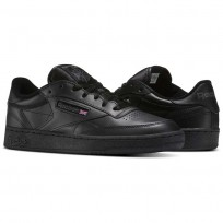 Reebok Club C 85 Shoes Mens Intense Black/Charcoal (141HGIVC)