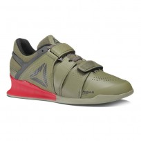 Reebok Legacy Lifter Shoes Mens Hunter Green/Coal/Primal Red/Chalk (143CRAVF)