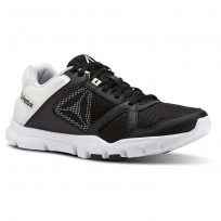 Reebok YourFlex Trainette Training Shoes Womens Black/White (145VFDWR)