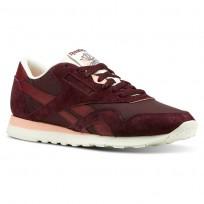 Reebok Classic Nylon Shoes Mens Retro-Maroon/Collegiate Burgundy/Chalk/Pink (146UOFTR)