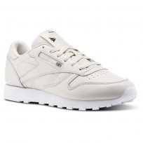 Reebok Classic Leather Shoes Womens White/Misty Purple/White/Black (147HWFLP)