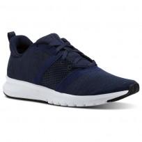 Reebok Print Running Shoes Mens Collegiate Navy/Black/Skull Grey/White (147LJIOZ)