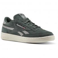 Reebok Revenge Plus Shoes Mens Chalk Green/Stark Grey/Chalk/Excellent Red (149UNCLD)