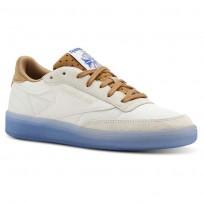 Reebok Club C 85 Schuhe Damen Braun/Blau (158SNKWL)