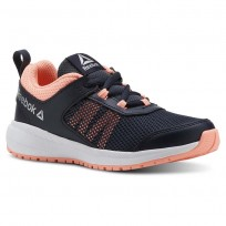 Reebok Road Supreme Running Shoes For Girls Navy/Pink/Silver (159BOUME)