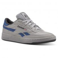 Reebok Revenge Plus Shoes Mens Tin Grey/Bunker Blue/Ash Grey/White (159ZJTAX)