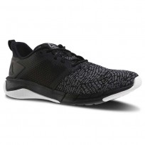 Reebok Print Running Shoes Womens Black/Foggy Grey/White (160DJUAV)