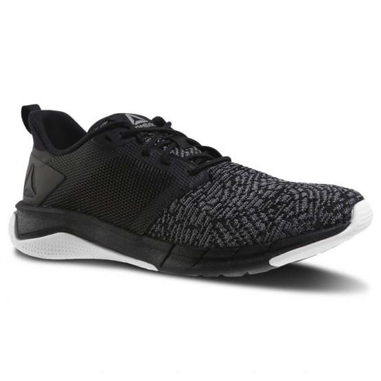 Reebok Print Running Shoes Womens Black/Foggy Grey/White (160DJUAV)