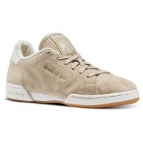 Reebok NPC II Shoes For Women Beige/White (161YQTXJ)