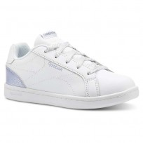 Reebok Royal Complete Shoes For Girls White/Silver (163XNQIM)