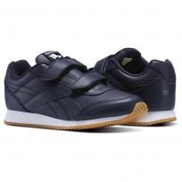 Reebok Royal Classic Jogger Shoes Kids Collegiate Navy-Gum (166XCDPL)