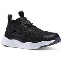 Reebok Furylite New Woven Shoes Womens Black/Solid Grey/White (179DTZJK)