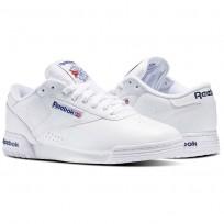 Reebok Ex-O-Fit Shoes Mens Intense White/Royal Blue/Royal Blue (179VESJH)