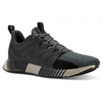 Reebok Fusion Flexweave Cage Running Shoes Mens Chalk Green/Coal/Black/Parchment (181JROCN)
