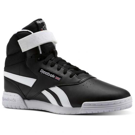 Reebok Ex-O-Fit Shoes Mens Black/White (182YQBAJ)