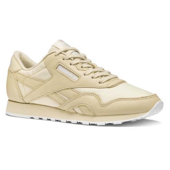 Reebok Classic Nylon Shoes Womens Stucco/White (191HAGFM)