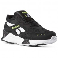 Reebok Aztrek Shoes Mens Bw-Black/White/Solar Yellow (194OGJDQ)