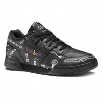 Reebok Workout Plus Shoes Mens Ta-Black/White/Primal Red (196JYTCO)
