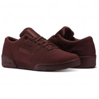 Reebok Workout Clean Shoes Mens Red/Burnt Sienna/White (197JMZXY)