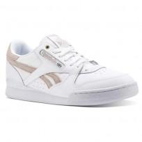Reebok Phase 1 Pro Shoes Mens Mc-White/Grey (197ZHLEJ)