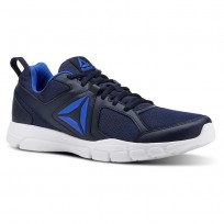 Reebok 3D FUSION TR Training Shoes Mens Collegiate Navy/White/Vital Blue (201WKCJY)