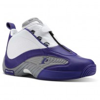 Reebok Answer IV PE Shoes Mens Team Purple/Flat Grey/White (203DBFIV)