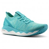 Reebok Floatride RS ULTK Lifestyle Shoes Womens Blue Lagoon/Solid Teal/Electric Flash/White (203UOXBQ)