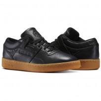 Reebok Club Workout Shoes Mens Black/Chalk-Gum (203ZBJYT)