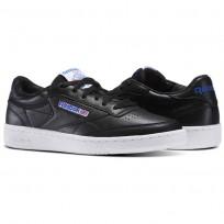 Reebok Club C 85 Shoes Mens Black/White/Vital Blue/Primal Red (205FEKIL)
