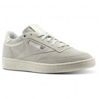 Reebok Club C 85 Shoes Mens Beige/Pebble/Chalk (205KFIWO)