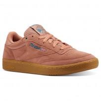 Reebok Club C 85 Shoes Mens Mc-Dirty Apricot/Teal/Gum (208JQZUG)