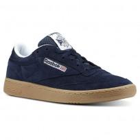 Reebok Club C 85 Shoes Mens Indoor-Collegiate Navy/White/Gum (212DGOUP)