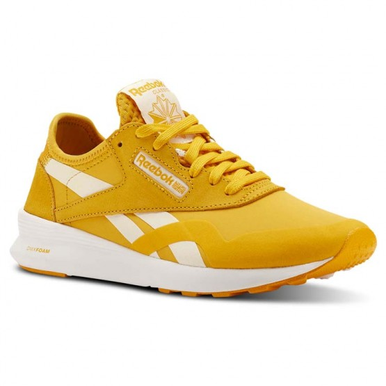 Reebok Classic Nylon Shoes Womens Og Blocking-Fierce Gold/Chalk/White/Mars Dust (218YGSMQ)
