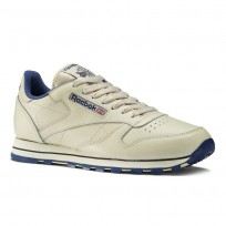 Reebok Classic Leather Shoes Mens Intense  Ecru/Navy (222PGLUF)