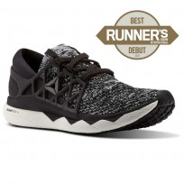 Reebok Custom Floatride Run Running Shoes Womens Black/Coal/White (223XGALK)