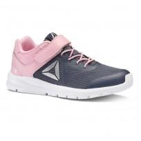 Reebok Rush Runner Running Shoes For Girls Navy/Light Pink (227MJSTP)